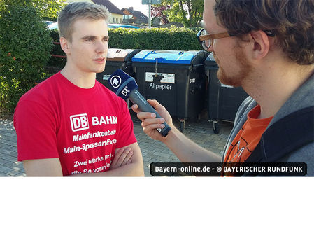 Niklas Reuther im Interview mit dem BR
